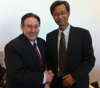 Dean Solomon and Executive Dean Wu